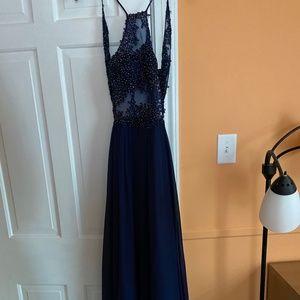 Blondie Nites Navy Prom Dress